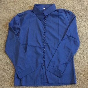 Tops - Women's size small royal blue button up blouse